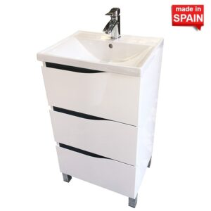 20IN BOX GLOSSY WHITE BATHROOM VANITY SOCIMOBEL MADE IN SPAIN 16BAMA60BL