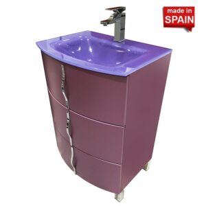 24-inch CROM Socimobel Bathroom Vanity Color Matt Mauve