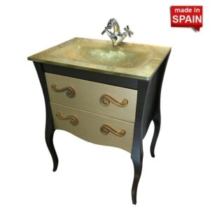 24-in Modern Bathroom Vanity ESTRELLA BROWN Socimobel Made in Spain NBSES24BR-G2