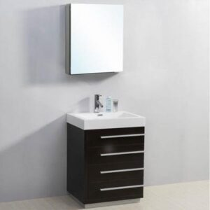 "Virtu USA 24"" BAILEY Modern Bathroom Vanity"