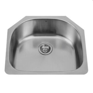 Vigo VG2421 24-inch Undermount Stainless Steel 18 Gauge Single Bowl Kitchen Sink