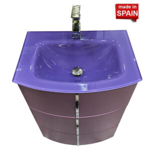 24 INCH CROM COLOR MAUVE BATHROOM VANITY SOCIMOBEL MADE IN SPAIN