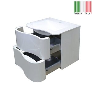 24in GB Group Onda Wall-Mounted Bathroom Vanity_ Made in Italy