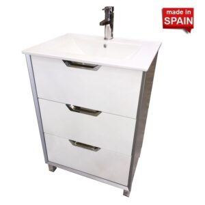 24-in Modern Bathroom Vanity CUBA Socimobel Made in Spain 16BACU60CO
