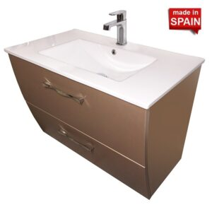 32- in London Metal Brown Bathroom Vanity Socimobel Made in Spain