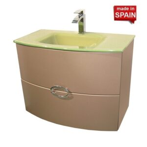 32inch ANAIS Bathroom vanity Color Metal Champlen SOCIMOBEL Made in Spain