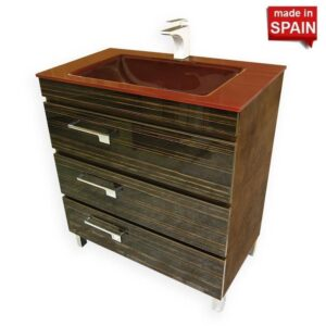 32Inch Bathroom vanity cabinet Euroline Yane SOCIMOBEL Made in Spain