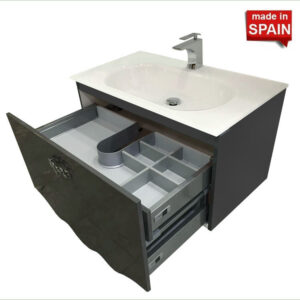 32 Inch Modern Bathroom Vanity CHER Anthracite Grey Belezza