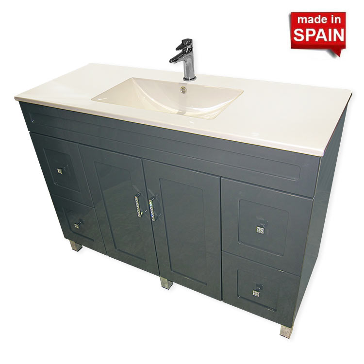 Inch Bathroom Vanity ANTRACITE Grey Socimobel NewBathroomStyle - 48 inch grey bathroom vanity