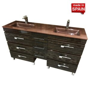 60 Inch YANE Deluxe Euro line Bathroom Vanity Bellizza Made in Spain