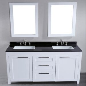 60'' Bosconi SB-267 Contemporary Double Vanity (White) SB-267