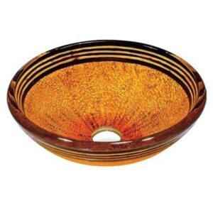 Tangerine Glass Vessel Bathroom Sink Vigo Model number VG07011