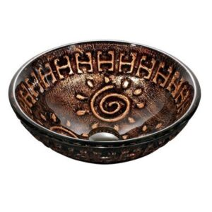 Aztec Glass Vessel Bathroom Sink Vigo Model number
