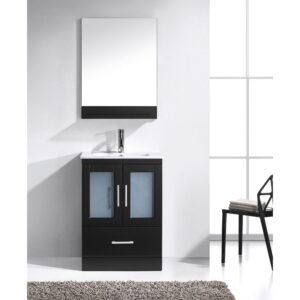 Virtu Usa 24 Inch ZOLA Modern Single Sink Bathroom Vanity