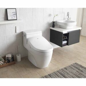 bio bidet Luxury Class Bidet Toilet Dual Sided Wireless Remote, Adjustable Heated Seat, Warm Water, Air Dryer, Stainless Steel Nozzle, A8, Elongated