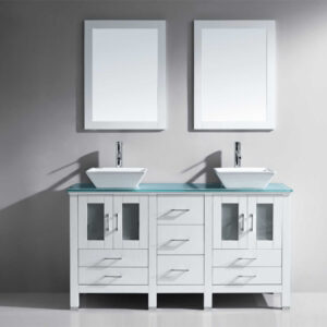 Bradford 60in Double Bathroom Vanity Cabinet Set