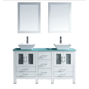 Bradford 60 inch Double Bathroom Vanity Cabinet Set