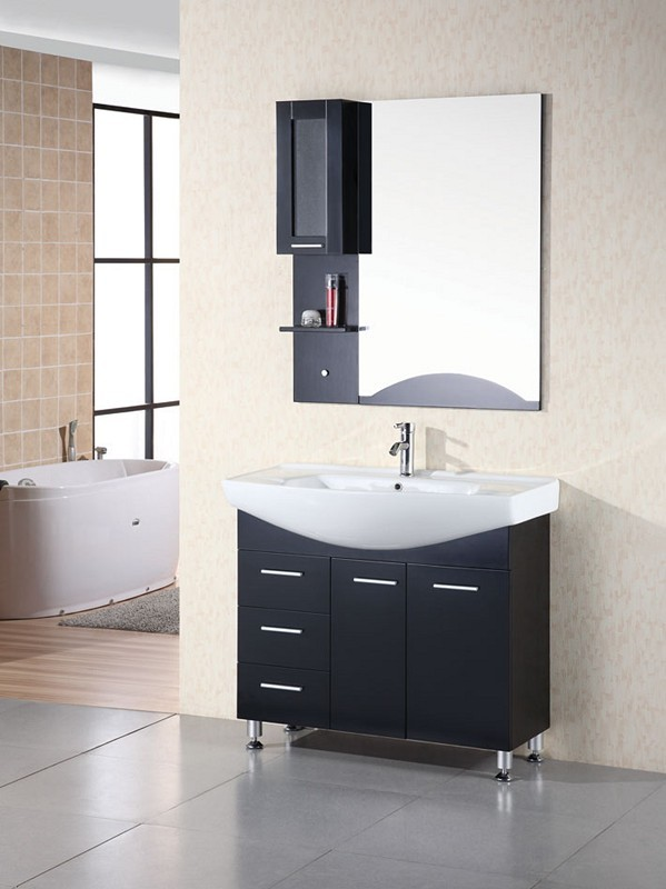 "Sierra 40"" Single Sink Vanity Set in Espresso Design Element, DEC026"