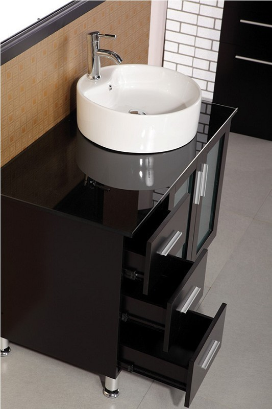 "Malibu 39"" Single Sink Vanity Set in Espresso Design Element, DEC066B-E"