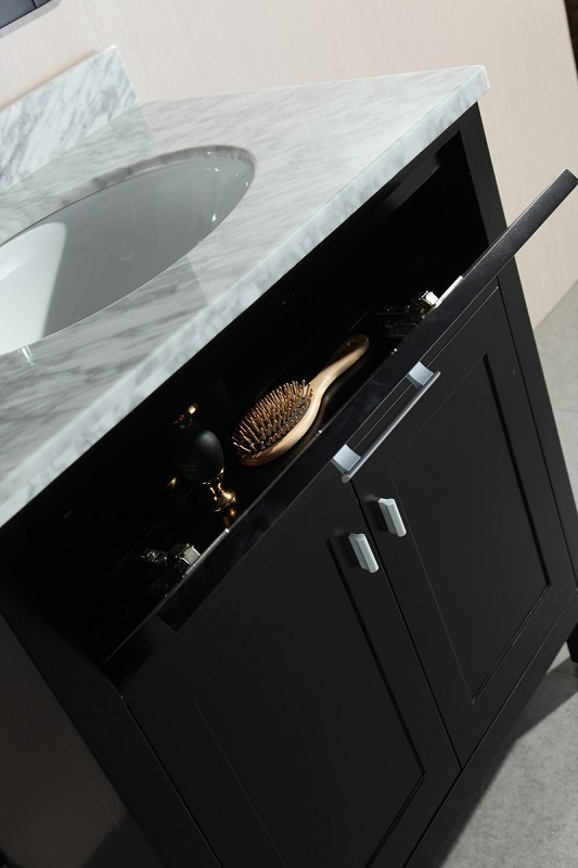 "London 30"" Single Sink Vanity Set in Espresso Design Element, DEC076E"