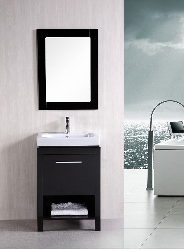 "New York 24"" Single Sink Vanity Set in Espresso Design Element, DEC091A"