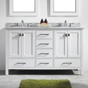Eviva Aberdeen 60 Inch Double Bathroom Vanity Set