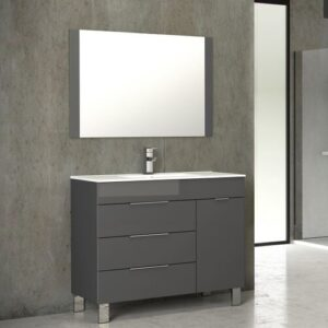 Eviva Geminis 39 Inch Single Modern Bathroom Vanity Set
