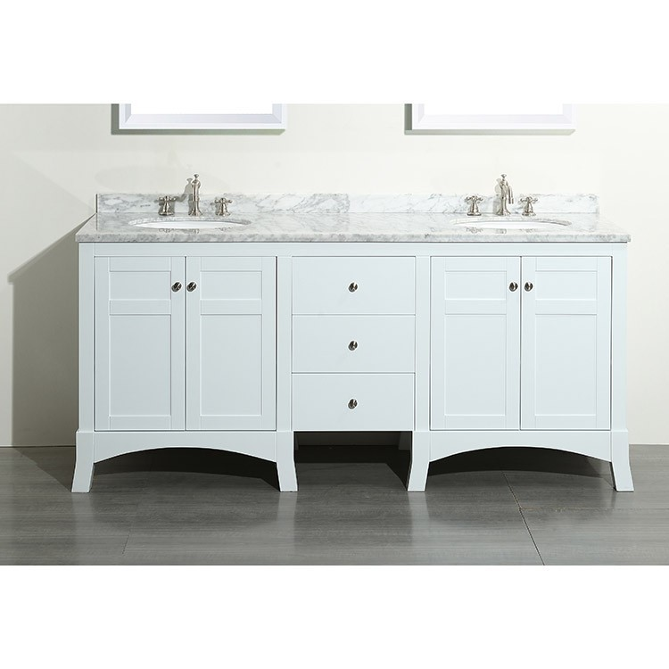 "New York 72"" Double Bathroom Vanity Set"