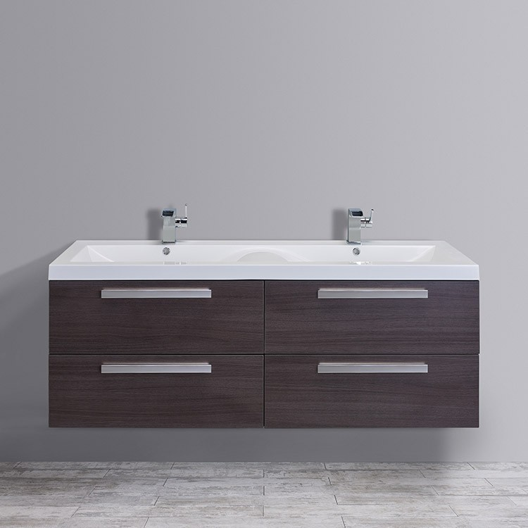 Eviva surf 57 inch double bathroom vanity set - 50 inch double sink bathroom vanity ...