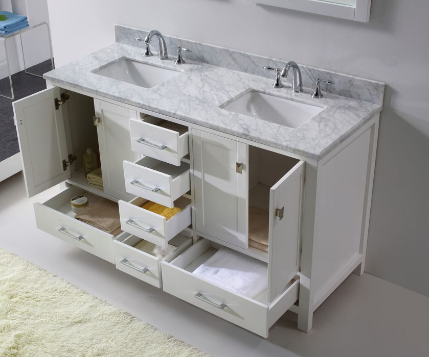 Virtu Usa Caroline 60 Inch Bathroom Vanity Newbathroomstyle