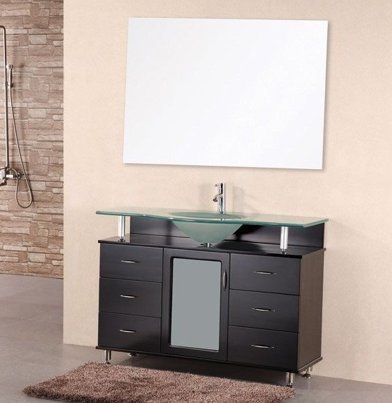 "Huntington 48"" Single Sink Vanity Set in Espresso Design Element, DEC015C"