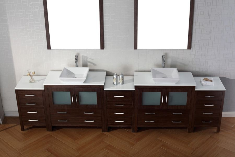 Virtu Usa 118 Inch Dior Bathroom Vanity Espresso With Pure