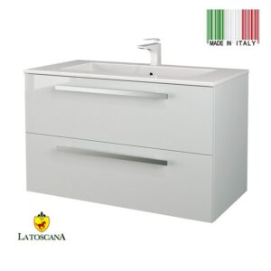 LaToscana 34 inch AMBRA Modern Bathroom Vanity With Finish Glossy White AM34ORT1W