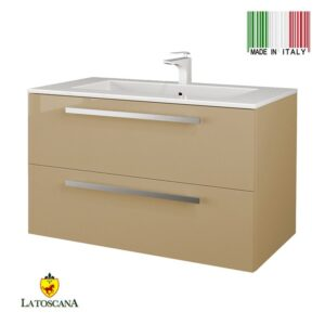 LaToscana 34 inch AMBRA Modern Bathroom Vanity With Finish Sand Glossy