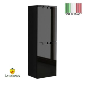 LaToscana OACI linen tower Color Glossy Black OCAO-24B