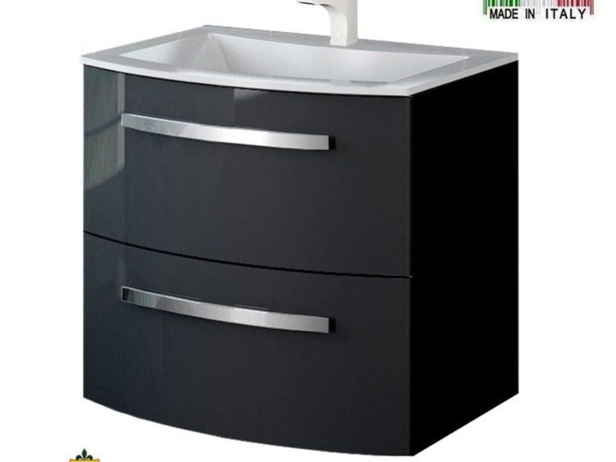Latoscana Palio 22 Modern Bathroom Vanity Glossy Black