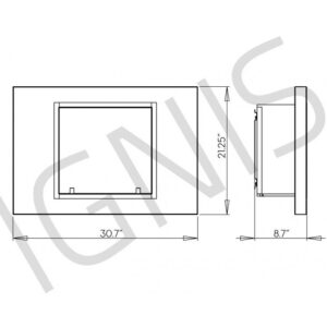 Lima Series - Recessed Ventless Ethanol Fireplace UL/CUL