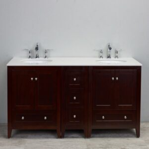 "Eviva Lime 60"" Double Bathroom Vanity Set"