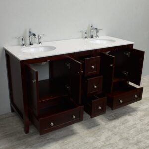 Eviva Lime 60 inch Double Bathroom Vanity Set