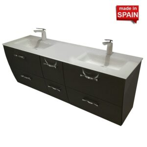 London 60-in Double Bathroom Vanity Socimobel Color Forging graphite