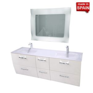 London 60 inch Double Bathroom Vanity Socimobel