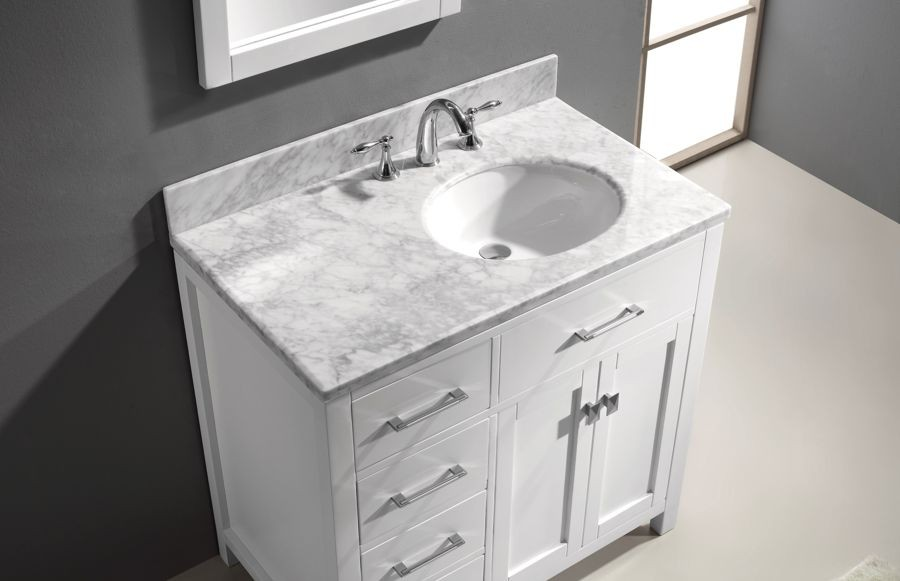 Ordinaire Virtu 36 Inch Caroline Parkway Bathroom Vanity White Left