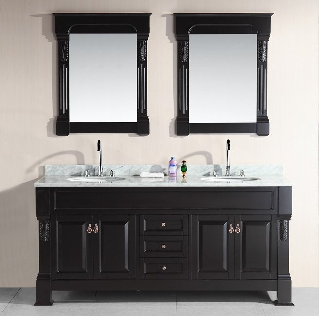 Marcos 72 Inch Double Sink Vanity Set With Carrara White