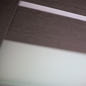 PROFIL MODERN INTERIOR DOOR WITH GLASS COLOR WENGE