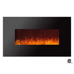 Royal Series - Electric Wall Mount Fireplace with Crystals - 36 inch