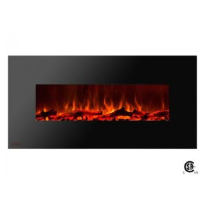 Royal Series - Electric Wall Mount Fireplace with Logs - 50 inch