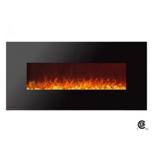 Royal Series - Electric Wall Mount Fireplace with Pebbles - 50 inch