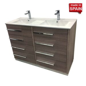 48Inch Double Bathroom Vanity PARIS Color Othello