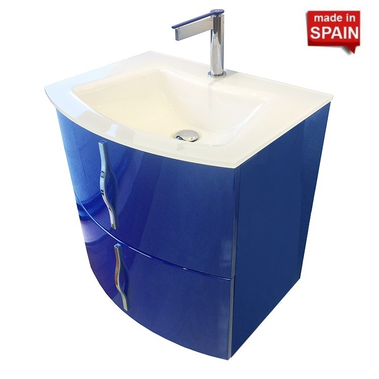 24 Inch Bathroom Vanity Cabinet Cron Wall Mount Color Blue Socimobel