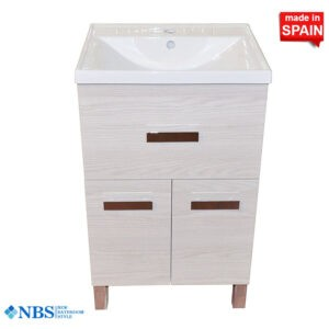Socimobel 20 Box Bathroom Vanity Segare Natural Finish Front